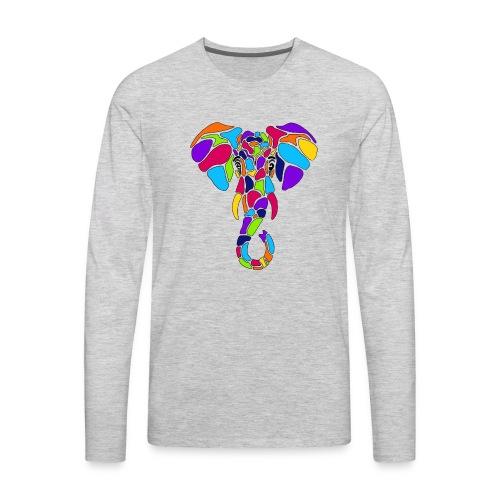 Art Deco elephant - Men's Premium Long Sleeve T-Shirt