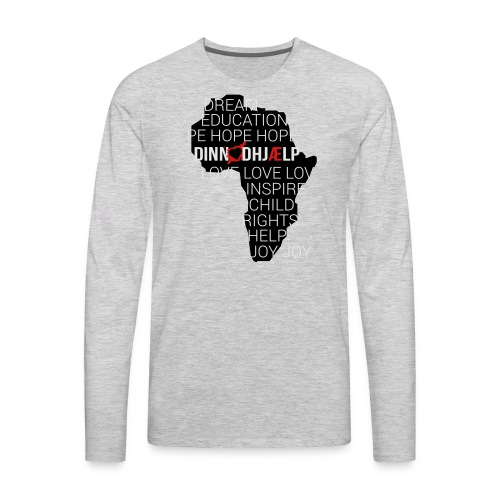 DINNoedhjaelp Africa logo - Men's Premium Long Sleeve T-Shirt