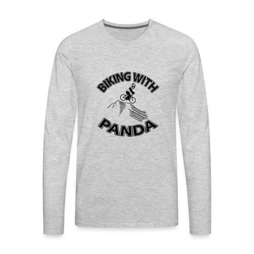 Biking with Panda - Men's Premium Long Sleeve T-Shirt