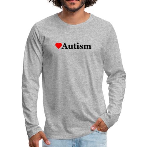 Heart Autism b - Men's Premium Long Sleeve T-Shirt