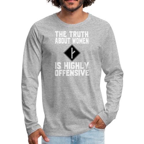 the truth about women white version - Men's Premium Long Sleeve T-Shirt
