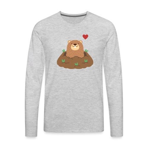 Groundhog Love - Men's Premium Long Sleeve T-Shirt