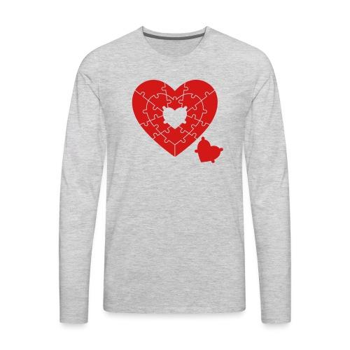 Heart Puzzle - Men's Premium Long Sleeve T-Shirt