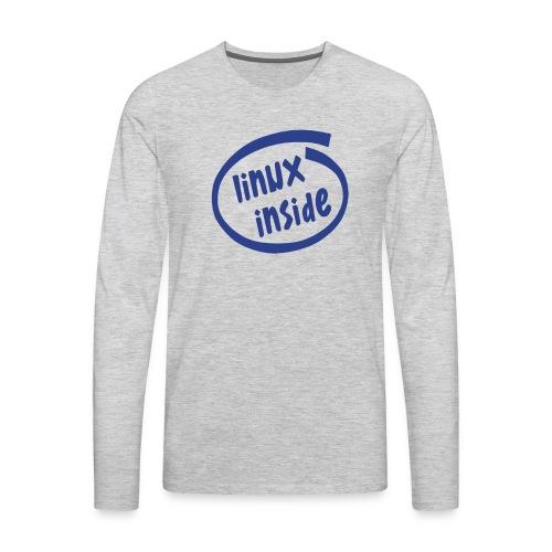 linux inside - Men's Premium Long Sleeve T-Shirt