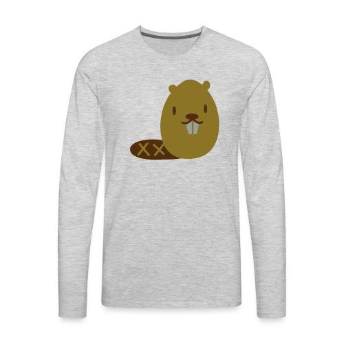 Cute Beaver - Men's Premium Long Sleeve T-Shirt