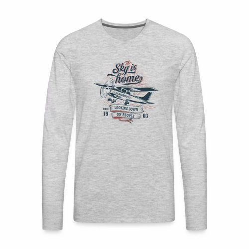 The sky is home - Men's Premium Long Sleeve T-Shirt