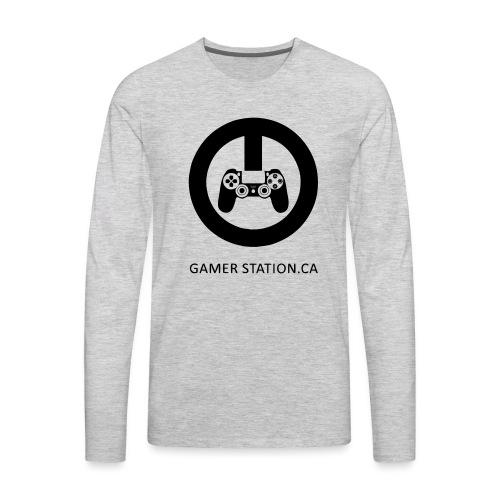 GamerStation.ca logo - Men's Premium Long Sleeve T-Shirt