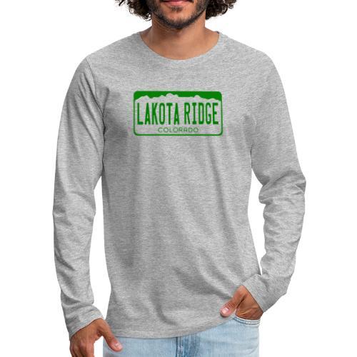 Lakota Ridge License Plate - Men's Premium Long Sleeve T-Shirt