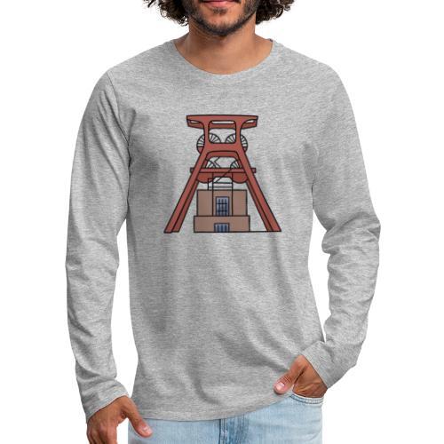 Zollverein Coal Mine Industrial Complex in Essen - Men's Premium Long Sleeve T-Shirt