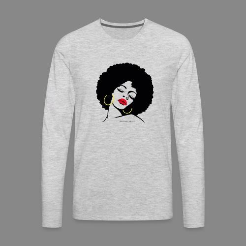 Afro Diva - Men's Premium Long Sleeve T-Shirt