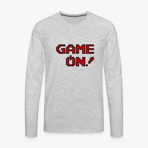 Game On.png - Men's Premium Long Sleeve T-Shirt