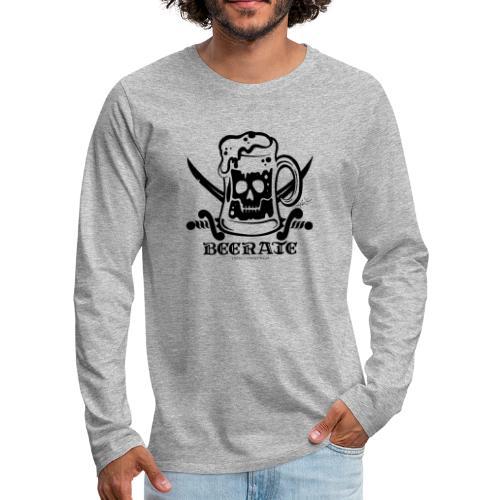 Beerate - black - Men's Premium Long Sleeve T-Shirt