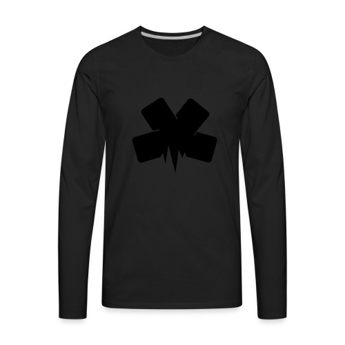 PixelSashay - Black Logo - Men's Premium Long Sleeve T-Shirt