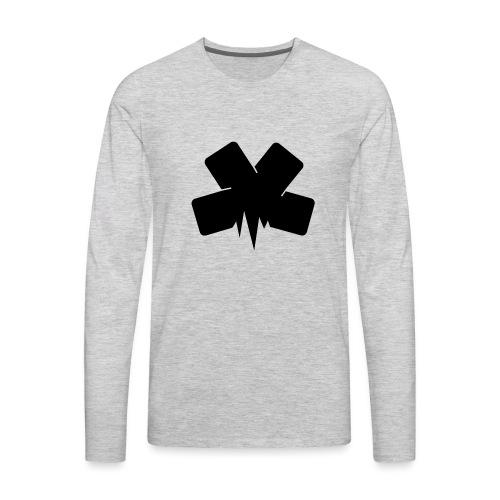 PixelSashay - Black Logo - Men's Premium Long Sleeve T-Shirt