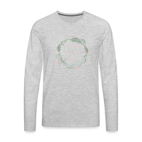 LOD Flower Wreath 1 - Men's Premium Long Sleeve T-Shirt