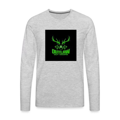 Outlaw Outdoors Logo 2 - Men's Premium Long Sleeve T-Shirt