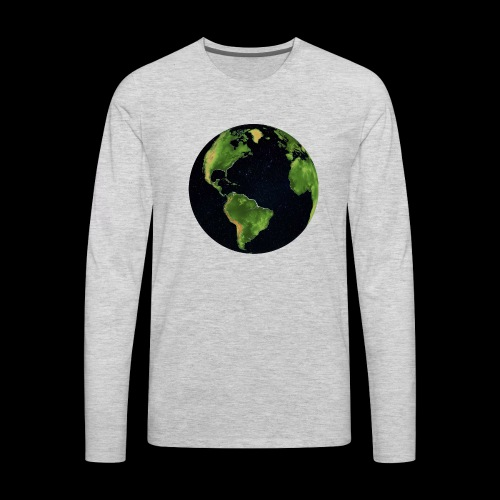 Galactic Earth - Men's Premium Long Sleeve T-Shirt