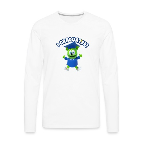I Graduated! Gummibar (The Gummy Bear) - Men's Premium Long Sleeve T-Shirt