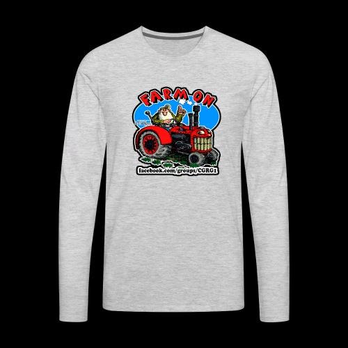 Mr Natural Farm On - Men's Premium Long Sleeve T-Shirt