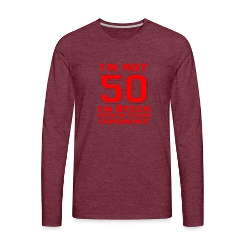 8teen red not 50 - Men's Premium Long Sleeve T-Shirt