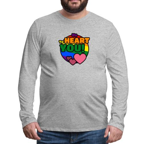 My Heart To You! I love you - printed clothes - Men's Premium Long Sleeve T-Shirt