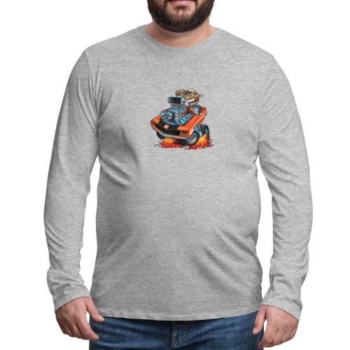 Classic 69 Muscle Car Cartoon - Men's Premium Long Sleeve T-Shirt