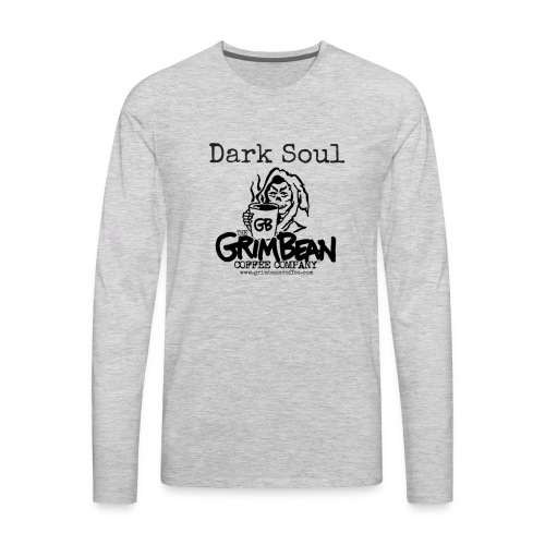 Grim Bean Coffee Company Dark Soul - Men's Premium Long Sleeve T-Shirt