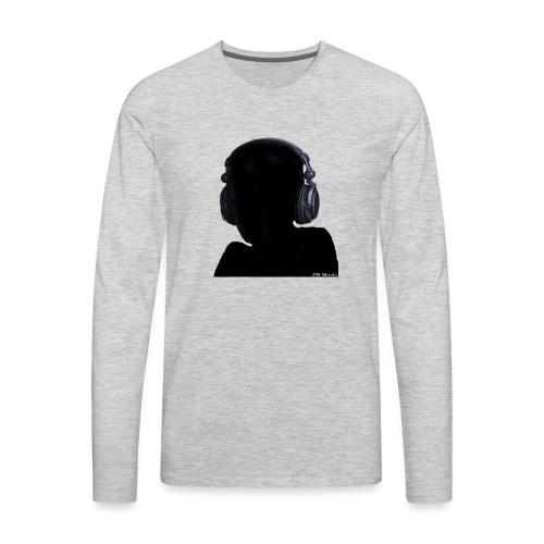CD Music silhouette with headphones - Men's Premium Long Sleeve T-Shirt