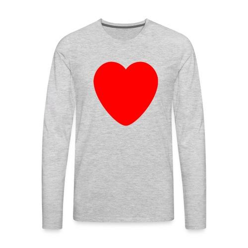 Red heart Care - Men's Premium Long Sleeve T-Shirt