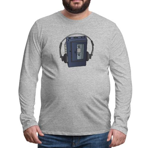 WALKMAN cassette recorder - Men's Premium Long Sleeve T-Shirt