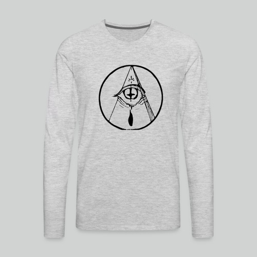 occult eye - Men's Premium Long Sleeve T-Shirt