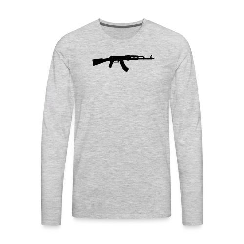 ak 47 one gun - Men's Premium Long Sleeve T-Shirt