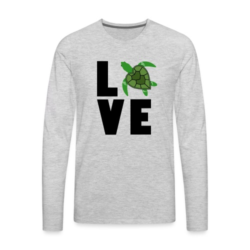 I Love Turtles - Men's Premium Long Sleeve T-Shirt
