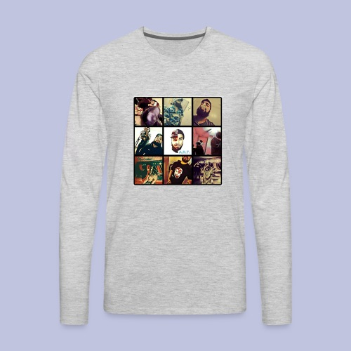 Throwback ART Mixtape Cover - Men's Premium Long Sleeve T-Shirt