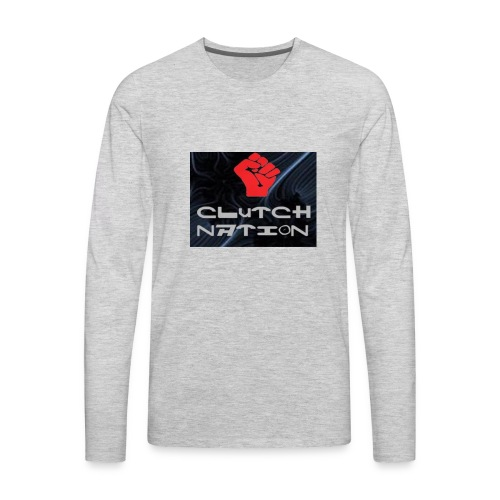 clutchnation logo merch - Men's Premium Long Sleeve T-Shirt