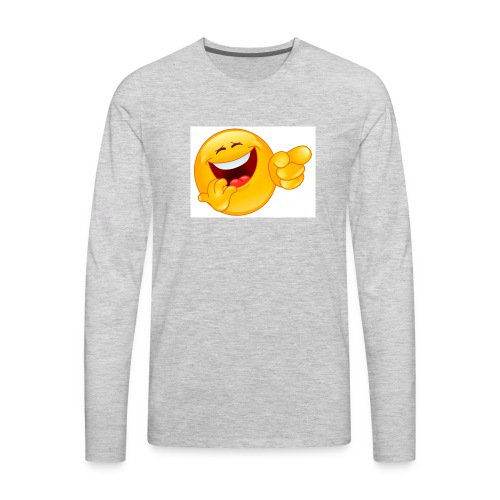 emoticon - Men's Premium Long Sleeve T-Shirt