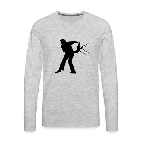 Chair Throwing Black - Men's Premium Long Sleeve T-Shirt