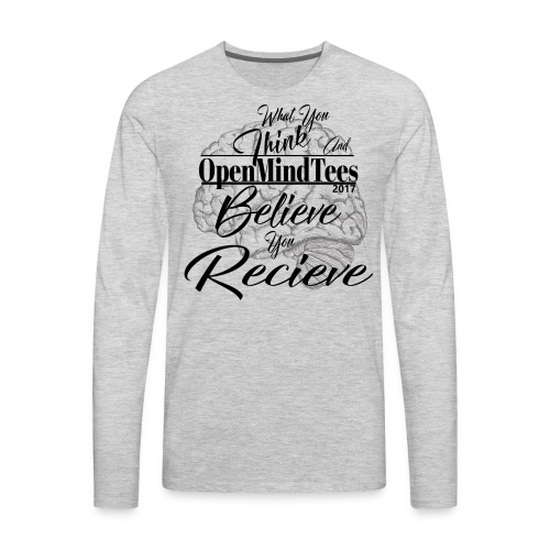 OpenMindTees logo Law Of Attraction Affirmation - Men's Premium Long Sleeve T-Shirt