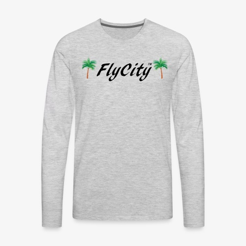 FLYCITY Logo - Men's Premium Long Sleeve T-Shirt
