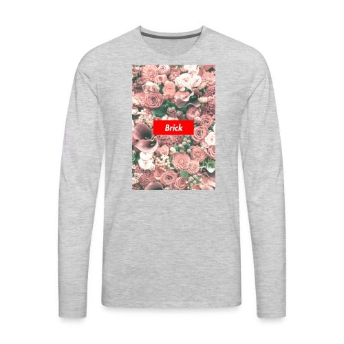 Brick Flowers - Men's Premium Long Sleeve T-Shirt