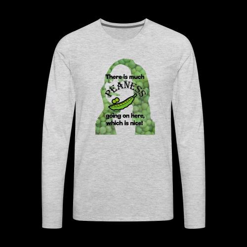 Much Peaness - Men's Premium Long Sleeve T-Shirt