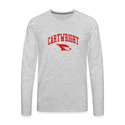 Cartwright College Logo - Men's Premium Long Sleeve T-Shirt