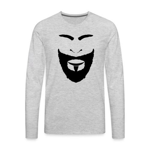 FACES_BEARD - Men's Premium Long Sleeve T-Shirt