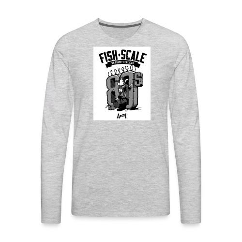 fish scale design - Men's Premium Long Sleeve T-Shirt