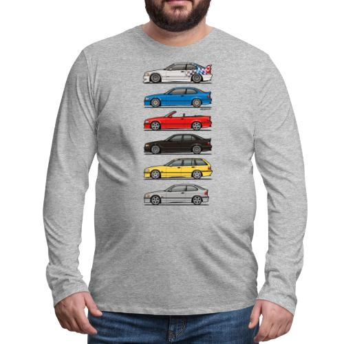 Stack of E36 Variants - Men's Premium Long Sleeve T-Shirt