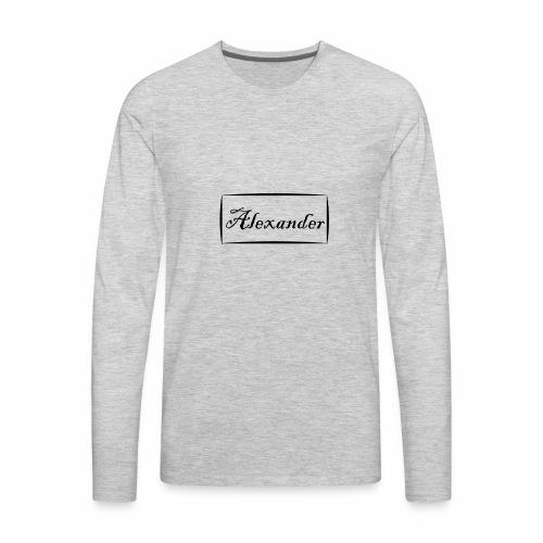 Alexander - Men's Premium Long Sleeve T-Shirt