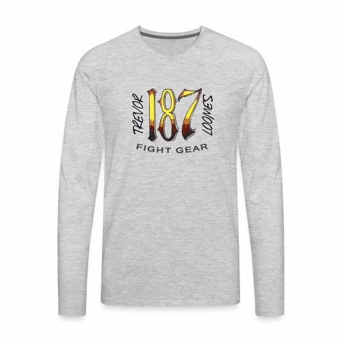 Coloured Trevor Loomes 187 Fight Gear Logo - Men's Premium Long Sleeve T-Shirt