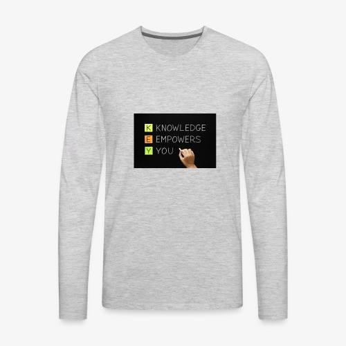 knowledge is power - Men's Premium Long Sleeve T-Shirt