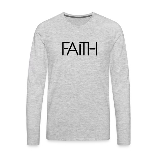 Faith tshirt - Men's Premium Long Sleeve T-Shirt