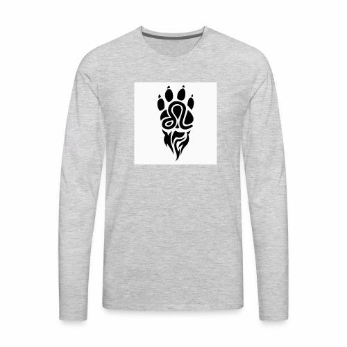 Black Leo Zodiac Sign - Men's Premium Long Sleeve T-Shirt